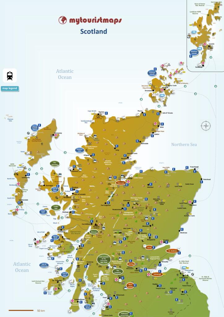 Tourist map of Scotland