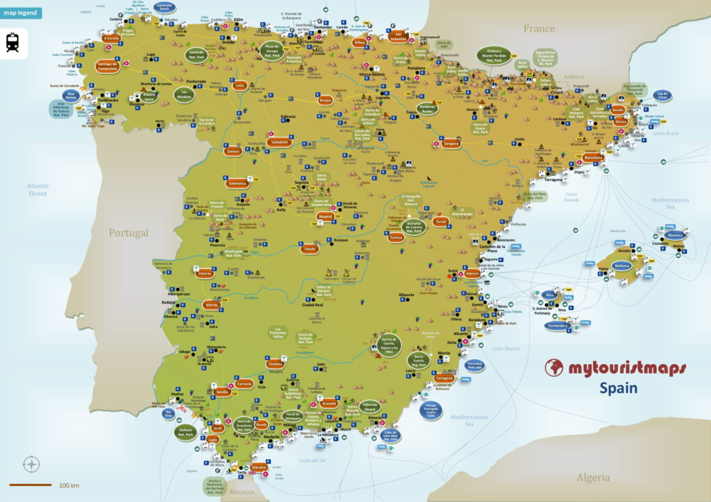 Tourist map of Spain